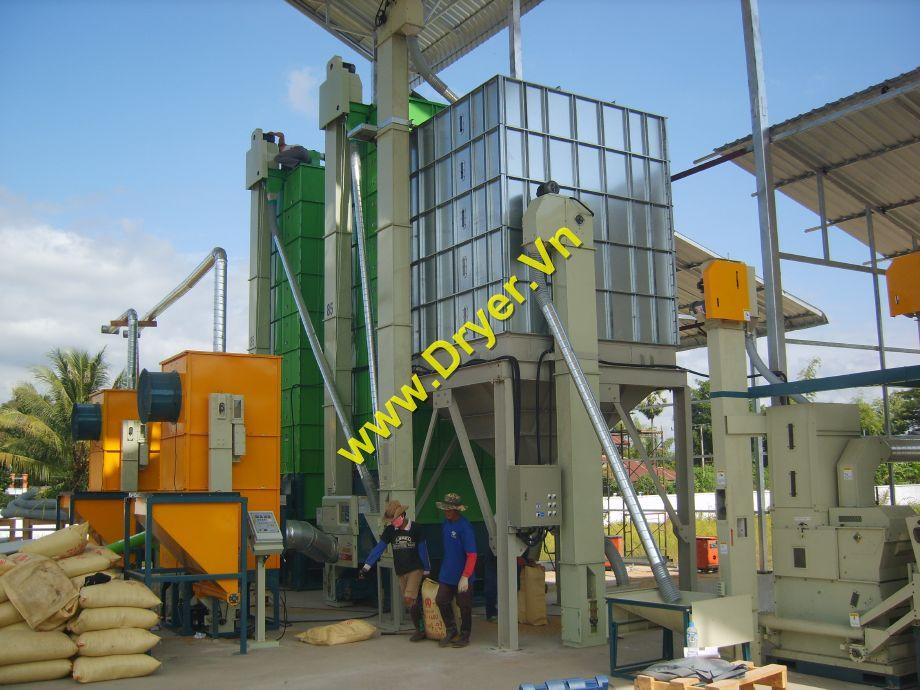 Máy sấy tháp công suất 20 tấn