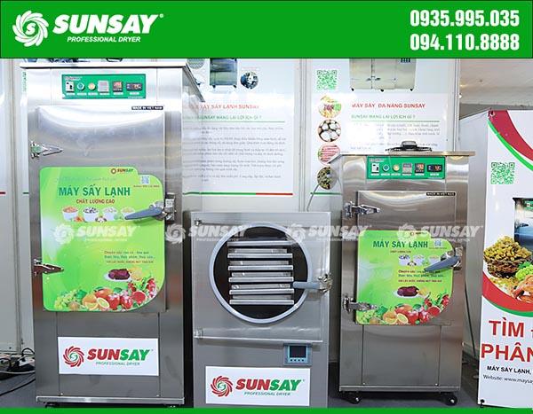 Nhiều dòng máy sấy SUNSAY công suất khác nhau để khách hàng lựa chọn