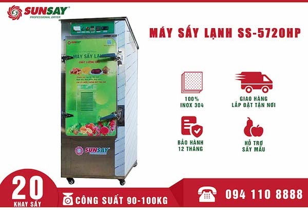 Máy sấy lạnh 20 khay được nhiều người lựa chọn